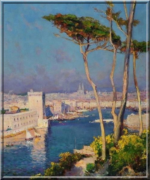 Peinture de Jean-Baptiste Olive  peintre marseillais