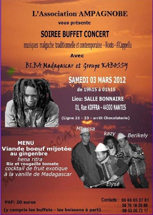 Soirée d'inauguration de l'Association le SAMEDI 03 MARS 2012 à 17h30 Salle Bonnaire
