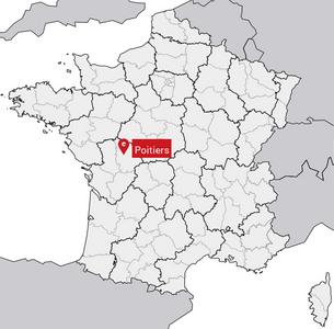 Localisation de Poitiers sur la carte de France