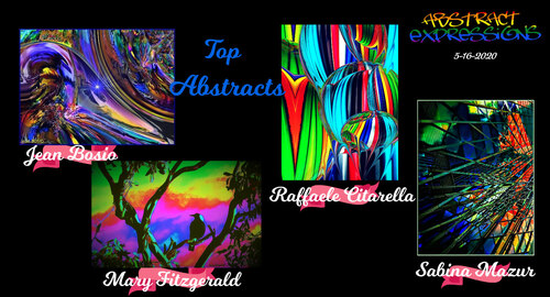 ABSTRACT EXPRESSION Tracy CrewAbstract Expressions Admin · 3 min ·   Best Abstracts ~ 5-16-2020 Congratulations to Sabina Mazur, Raffaele Citarella, Mary Fitzgerald, Jean Bosio!!! Thank you for your
