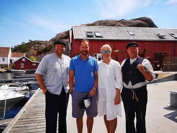 Haakon et Mette Marit le 12 juillet