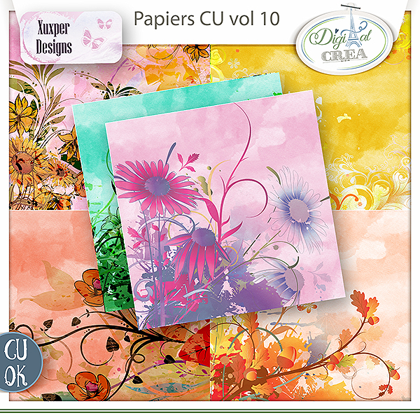 Pack Papier CU vol 10 de Xuxper Designs