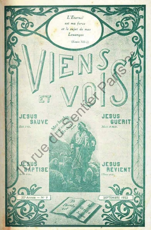 Raoul Stephan - Une erreur, les Antoinistes (Viens et Vois, Église Évang. de Pentecôte, sept. 1952, n°181)