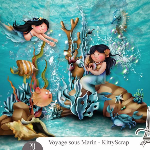 VOYAGE SOUS MARIN by Kitty Scrap