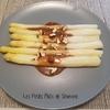 asperges blanches sauce noisette miel
