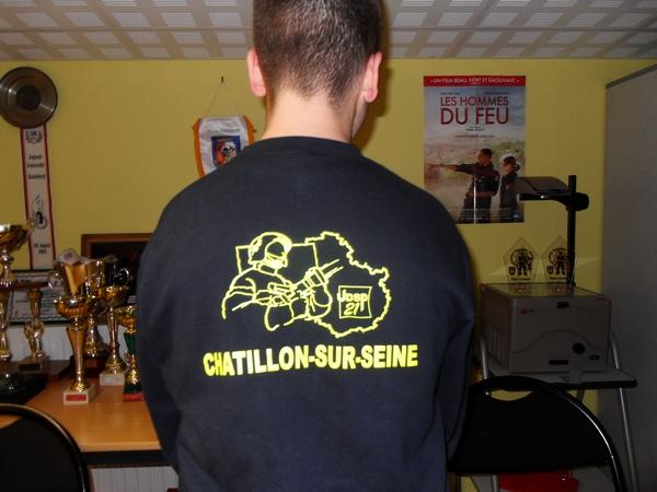 LZ a remis un chèque de 1200 € aux Jeunes Sapeurs Pompiers de Chatillon S/Seine