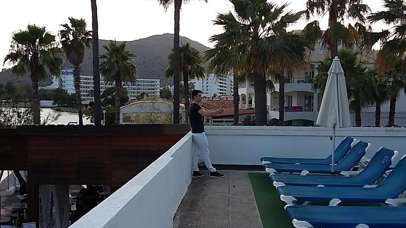 shooting photos sur les terrasses et solarium - vue lac