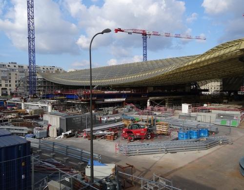 Paris: le çantier des Halles