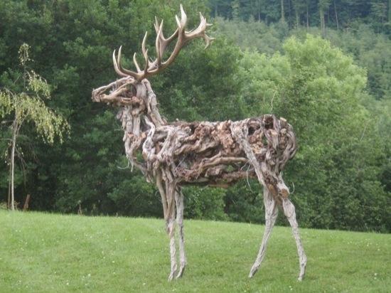 Sculpture de bois flotté de Jeff Uitto - Le jardin de mes étoiles