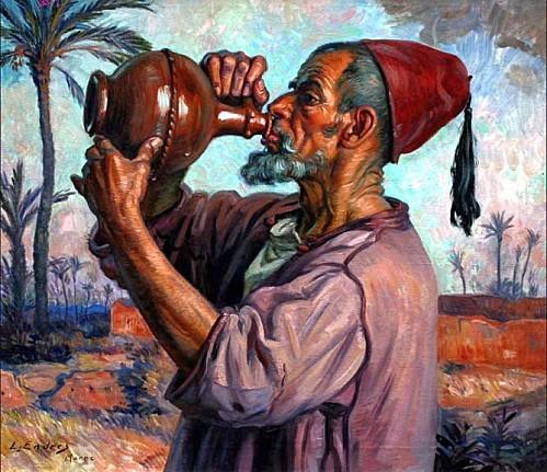 La gargoulette, Louis John Endres, huile sur toile