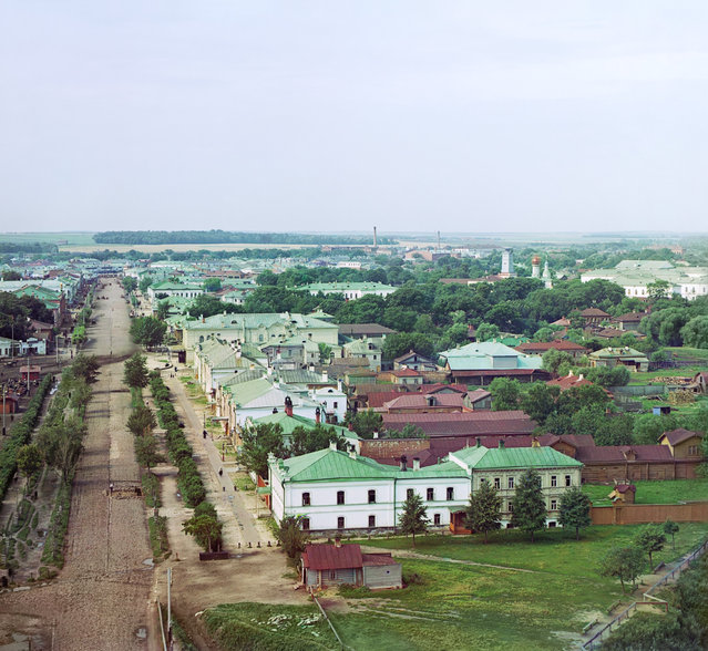 Photos by Sergey Prokudin-Gorsky. Riazan. General view from the bell tower of Assumption Cathedral from the northwest. Russia, Ryazan Province, Ryazan, 1912