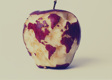 earth, planet, world, we heart it, weheartit, art, apple, food