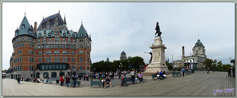 Le Château Frontenac vu de la terrasse Dufferin - Québec - Canada