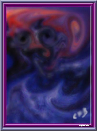 Vieillesse (Peinture avec doigts sur verre)