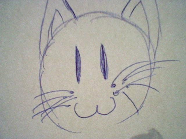 Ce moment où tu galères alors tu dessines un chat :3 !