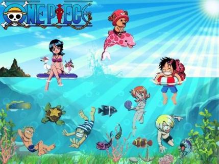 One Piece tous a l'eau