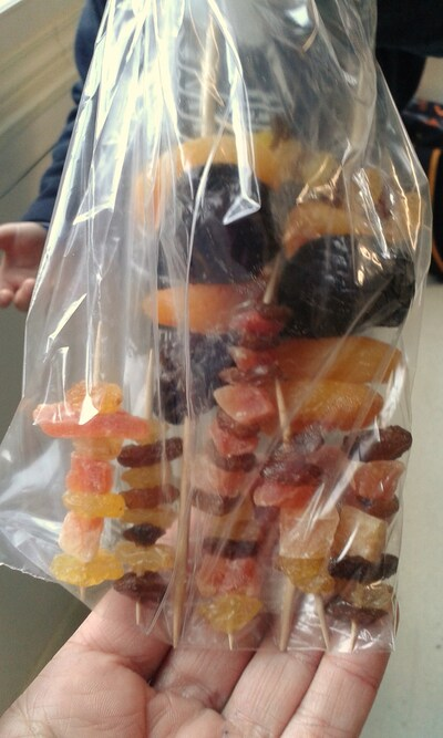 Brochettes de fruits -18/10/16
