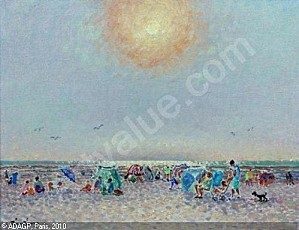 hambourg-andre-1909-1999-franc-soleil-a-trouville-fin-aout-