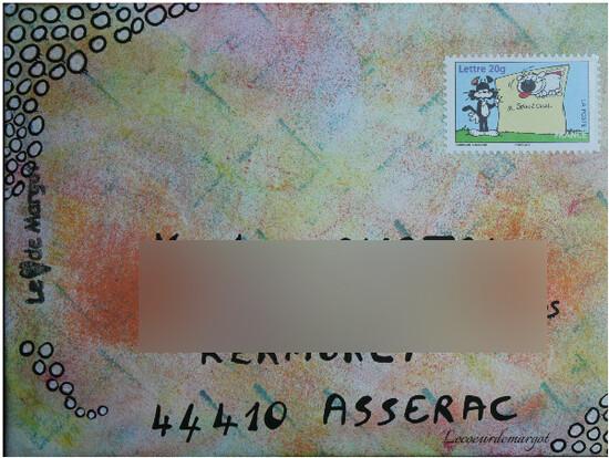 Mailart / Enveloppe encrée