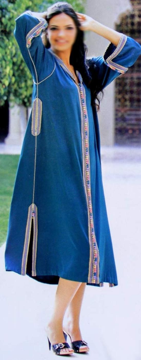 Djellaba bleu S545