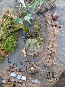 Land art au Gué de Selle