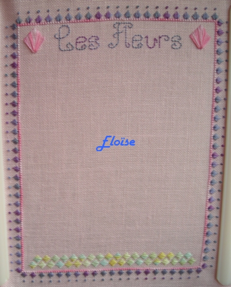 SAL trio : les Fleurs de mon Jardin - étape 2 - Eloïse