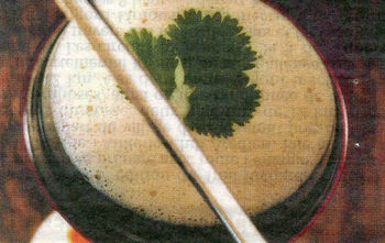 velouté d'oignons au lait de coco