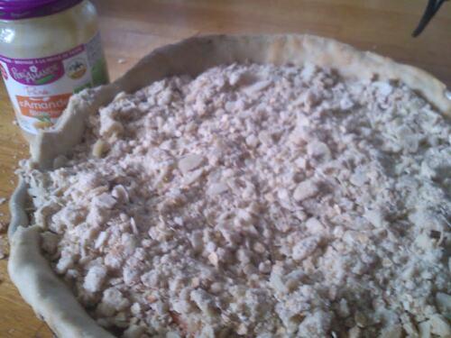 Une tarte Pêche/Abricot façon crumble à la purée d'Amande #PERL'AMANDE#