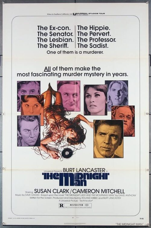 THE MIDNIGHT MAN  BOX OFFICE USA 1974