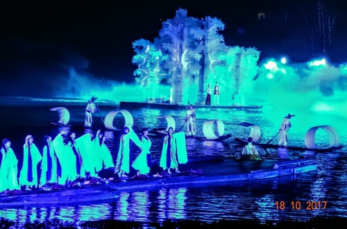 Yangshuo; suite du spectacle;