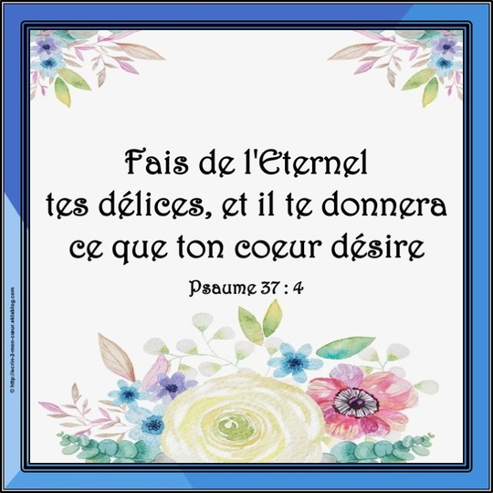 Psaume 37 : 4