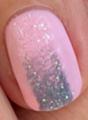 nail art dégradé pailleté