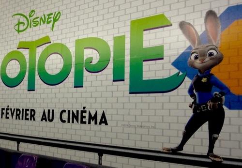 Zootopie, le zoo Disney au métro Concorde