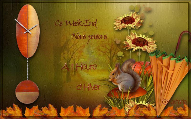 PASSAGE HEURE D HIVER