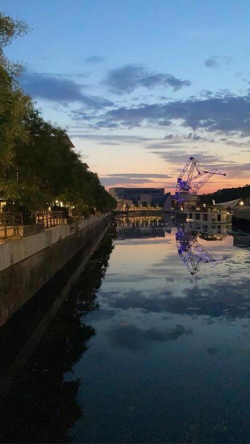 Un beau coucher de soleil en Alsace