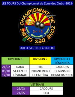 Championnat de Zone 2015.