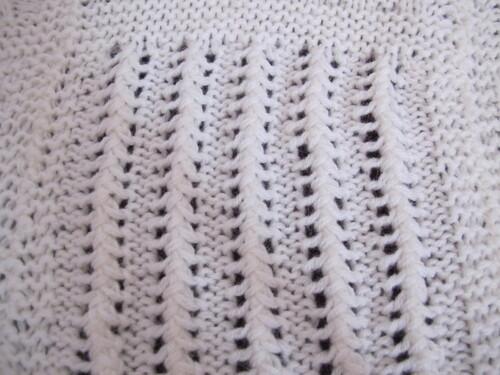 Couverture en tricot pour bébé