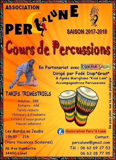 """★ Cours de Percussions """"Assos"""" [Lunel (34)]"""