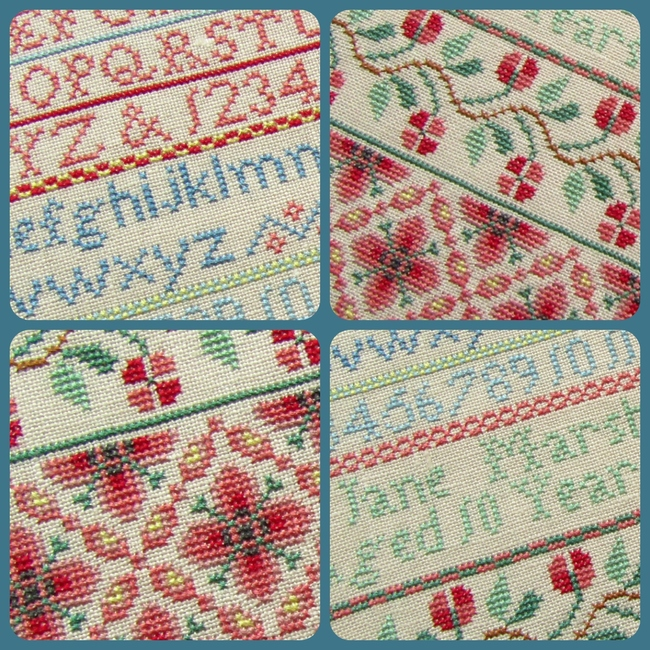 Sampler Jane Marshall 1857