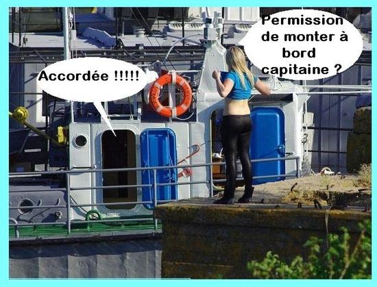 permission monter a bord