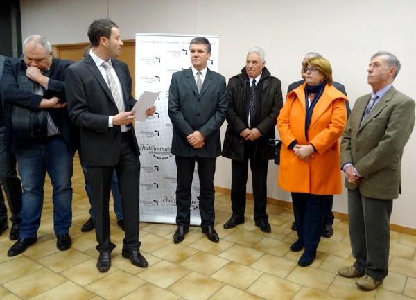 Jérémie Brigand, Président de la Communauté de Communes du Pays Châtillonnais a présenté ses voeux pour 2016...