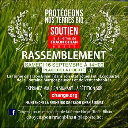 Traon-Bihan : EELV Brest et l'Autre Gauche-BNC solidaires à l'appel au rassemblement