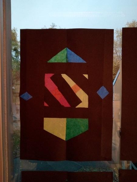 Papier de soie : les vitraux