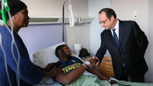 """Résultat de recherche d'images pour """"Image de Hollande au chevet de THEO"""""""