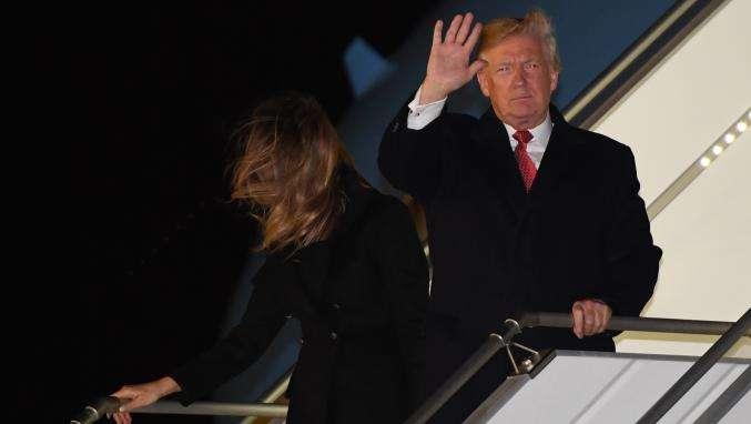"""A peine arrivée à Paris, Trump dénonce dans un tweet les propos """"insultants"""" de Macron au sujet de l'armée européenne"""