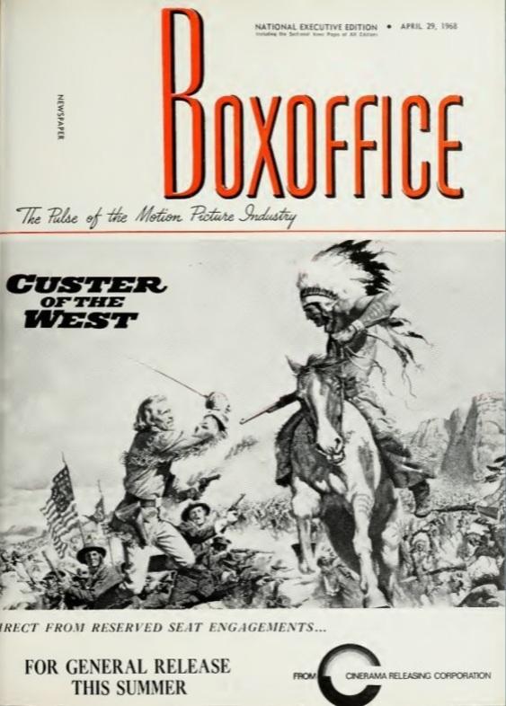 BOX OFFICE USA DU 23 JANVIER 1968 AU 29 JANVIER 1968