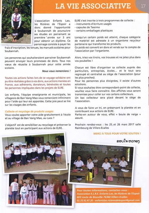 Article journal municipal - janvier 2017