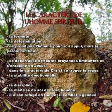 LE CARACTERE DE L'HOMME SPIRITUEL