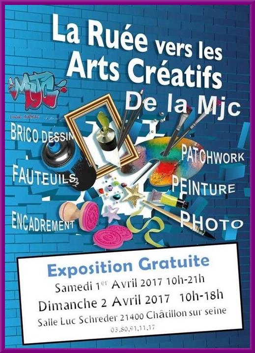 """Une superbe exposition """"Ruée sur les Arts Créatifs 2017"""" a été proposée, salle Luc Schréder, par la M.J.C. Lucie Aubracar"""
