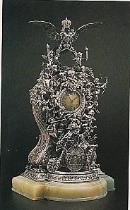 Horloge argent, diamants onyx, (1891)